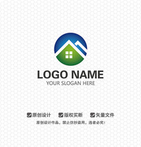 M字母房屋中介LOGO设计
