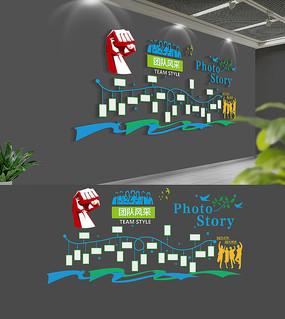 创意企业员工荣誉风采照片墙