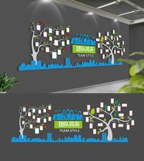 创意企业职工之家照片树照片墙设计
