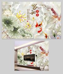 家和玉雕荷花背景墙图片