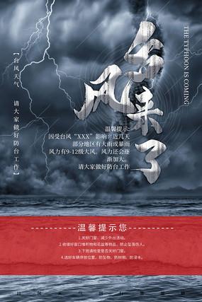 台风来了宣传海报