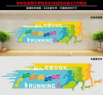 校园运动文化墙设计