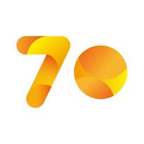 原创元素70周年字体设计