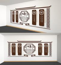 中式党建廉政文化墙党政雕刻展板