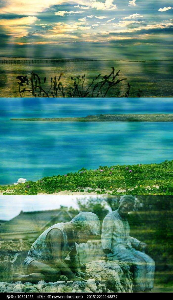 歌曲外婆的澎湖湾舞台背景视频素材图片