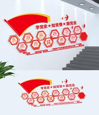 红色十九大党的历程文化墙