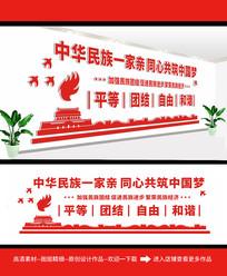 民族团结党建活动室文化墙
