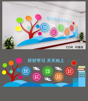 校园学习文化墙设计