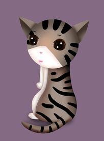 原创可爱卡通动物猫