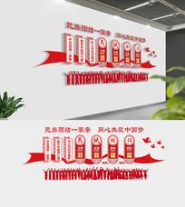 中华民族伟团结文化墙