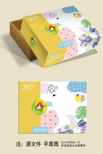 简约猕猴桃包装盒设计