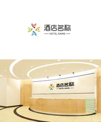 简约酒店logo设计