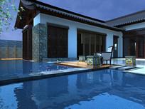 中式庭院水池设计