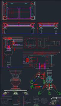 茶几 餐桌脚CAD