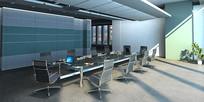 会议室玻璃会议桌3D模型
