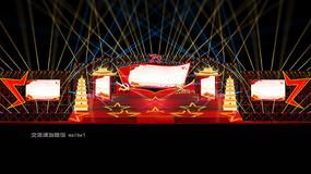 建国70周年国庆节舞美效果图舞台设计定制