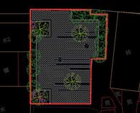 简约线条庭院节点平面