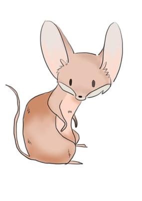 手绘卡通可爱仓鼠老鼠2020鼠年元素插画