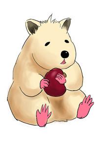 手绘卡通可爱肥胖仓鼠2020鼠年元素插画
