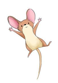 手绘卡通可爱老鼠2020鼠年元素插画