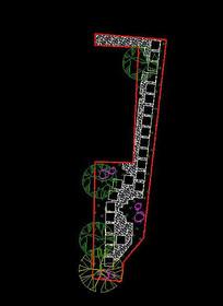 庭院小幽径设计平面 dwg