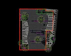 现代庭院设计平面图 dwg
