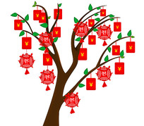 新年喜庆红包树