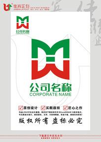 MW英文字母标志设计