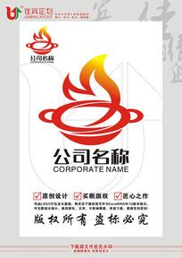 M英文字母火锅餐饮标志设计