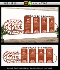 传统中医文化墙展板