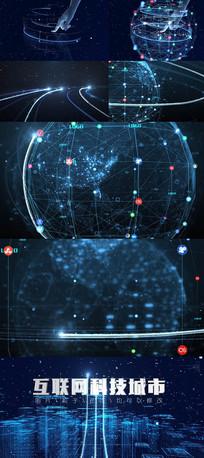 互联网科技城市动态视频模板