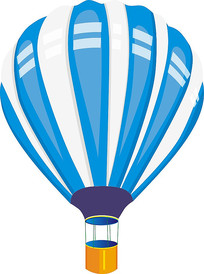 蓝色热气球