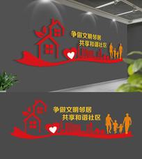 社区文化墙布置模板