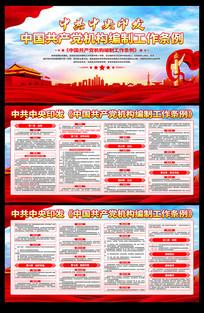 一图读懂中国共产党机构编制工作条例展板