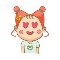 原创包脸妹爱心表情包元素