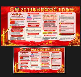 2019全国两会报告展板设计