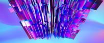 炫彩抽象几何玻璃背景