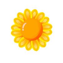 发光的向日葵