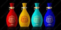 封坛原浆酒彩色系列酒瓶效果图