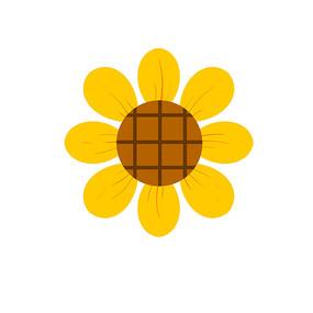 简单可爱的卡通向日葵花朵