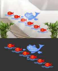 简约校园楼梯文化墙