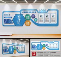 蓝色科技大型办公形象墙