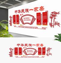 新中式民族团结造型展板文化墙