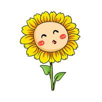 仰头亲亲的可爱向日葵