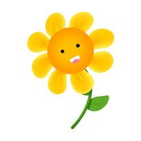 一株开心哈哈笑的向日葵