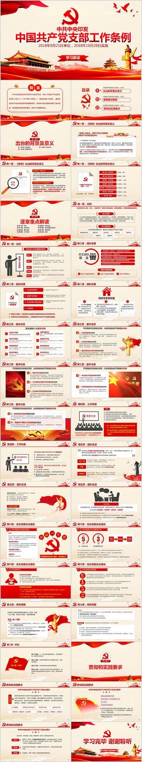 中国共产党支部工作条例党课PPT