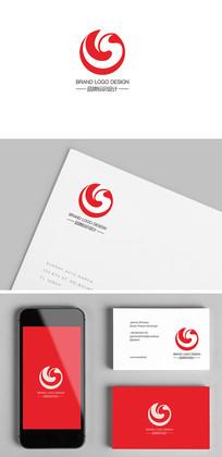 S字母开头的创意标志设计