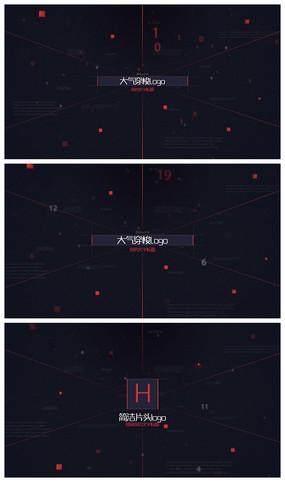 大气穿梭logo片头视频模板