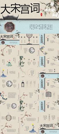 复古中国风诗词PPT模板