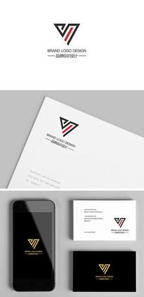服饰箱包时尚潮牌YV字母标志